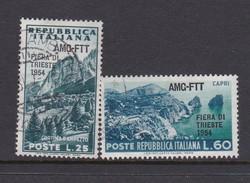Trieste Allied Military Government S 201-202 1954 6th Trieste Fair, Used - 7. Trieste