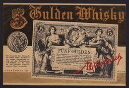 Austria Gulden Whisky , Fünf Gulden , Likörfabrik Mikolasch Label - Whisky