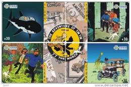 T04190 China Phone Cards Tintin Puzzle 4pcs - Cómics
