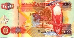 ZAMBIE  50 KWACHA De 2003  Pick 37d  UNC/NEUF - Zambie