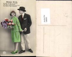 548001,Liebe Liebespaar Paar Hut Kleid Art Deco Blumen Flieder Anzug - Paare