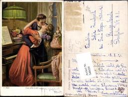 548020,Liebe Liebespaar Künstler AK F. Beck Tischlampe Lampe Klavier - Paare