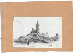 MARSEILLE - 13 - CPA DOS SIMPLE De Notre Dame De La Garde  - ENCH - - Notre-Dame De La Garde, Ascenseur