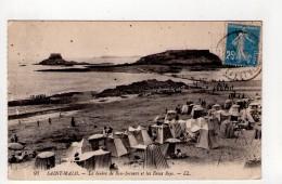 CPA-AP202-SAINT MALO GREVE DE BON SECOURS ET LES DEUX BEYS 1921 - Saint Malo