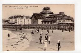 CPA-AP206-SAINT MALO  LE CASINO ET L HOTEL FRANKLIN VUS DE LA PLAGE - Saint Malo