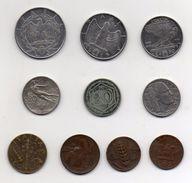 Italia - Lotto 10 Monete Regno - Anni Vari - Vedi Foto - (MW282) - 1861-1946 : Kingdom