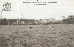 Environs De Verneuil (Eure) - Ecole Des Roches - Vue Générale - Edition G. Boucher - Schools