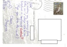 21B : Slovenia Owl Stamp Used On Krskavas  Postcard - Slowenien