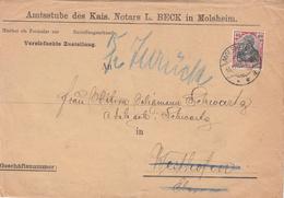 Env Vereinfachte Zustellung Affr Y&T 88  Obl MOLSHEIM Du 9.3.02 Adressé à Strasbourg - Postmark Collection (Covers)