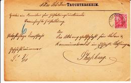 Env Vereinfachte Zustellung Affr Y&T 84  Obl TRUCHTERSHEIM Du 13.9.01 Adressé à STRAßBURG - Marcophilie (Lettres)