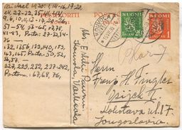 KOUVOLA - FINLAND / Suomi, POSTAL STATIONERY, 1930. - Finlandia