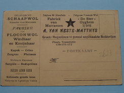 """Fabriek Van Matrassen A. VAN NESTE - METTHYS """" De Ster """" OYGHEM / Tel 29 Harelbeke - 19?? ( Zie Foto's ) ! - Wielsbeke"""