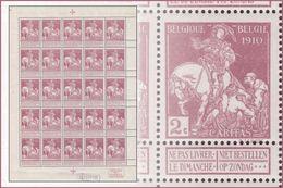 Belgium 0089** (F89**) Caritas 2c Petite Feuille / Sheet De 25**  ( Br_vr ) - Feuilles Complètes