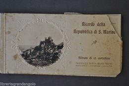 Cartoline Libro Album Repubblica Di San Marino Viste Panoraniche Reffi 1900 - Saint-Marin