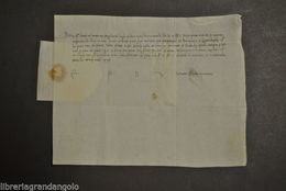 Autografo Guido Visconti Milano Somma Lombardo Governatore Genova Cremona 1478 - Autografi