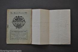 Aviazione Programma Concorso Nazionale Aviacion Valencia Valenza Spagna 1922 - Books, Magazines, Comics