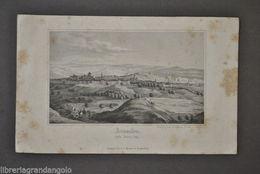 Calcografia Incisione Gerusalemme Jerusalem Palestina Israele Panorama 1880 - Stampe & Incisioni