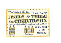 Buvard Huile De Table Des Chartreux - Blotters