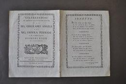 Poesia Nozze Matrimonio Angeli Persiani Perugia Sonetto Arcadia 1788 - Zonder Classificatie