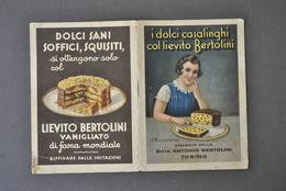 Pubblicità Pasticceria Lievito Bertolini Dolci Ricettario Torte Liquori 1934 - Publicités