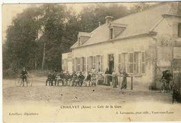 CHAILVET (Aisne) -- CAFE  DE  LA  GARE     Leger Petit Pli Coin - France