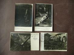 Guerra'15-'18  Foto Mortaio 210 Mortaio 260 Scheneider Obice 305 Casa Bombardata - Fotografia