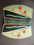 Nave Colori Porta Aghi Pubblicitario United States Dopoguerra Marina Crociera - Vecchi Documenti