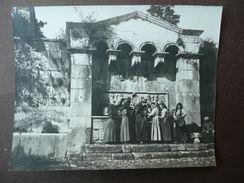 Fotografia Originale Antica Pescocostanzo Aquila Lavandaie Acqua Fonte '900 - Fotografia