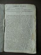 Libretto Servizio Torino Carlo Felice 1829 Pergamena Verzuolo Moncalieri - Vecchi Documenti