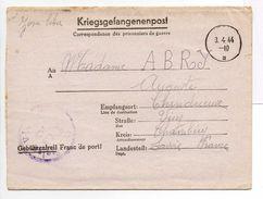 - Lettre De Correspondance Des Prisonniers De Guerre STALAG VI C 32 Pour CHINDRIEUX (Savoie) 19.3.1944 - A ETUDIER - - Postmark Collection (Covers)