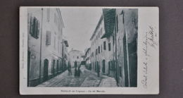 Cartolina Pavullo Frignano Montagna Via Del Mercato  Modena Animata 1902 - Modena