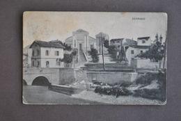 Cartolina Udine Sagrado Disegno Panorama 1917 - Udine