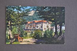 Cartolina Trentino Passo  Mendola Grandi Alberghi Colore 1929 - Trento