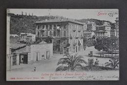 Cartolina  Liguria Spezia Colline Dei Vicchi Piazza Saint Bon 1904 - La Spezia