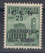1945 Revolutionary Partizan  Local Stamp  - CLN Valle Bormida MNH ** - Nationales Befreiungskomitee