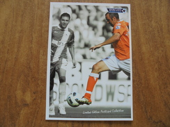 51747 Barclays Premier League, Limited Edition Postcard Collection. TAYLOR-FLETCHER. Wigan Athletic 0 Blackpool 4. - Soccer