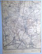 CARTE D ETAT MAJOR 71/4  1923 MESSANCY WOLKRANGE HONDELANGE UDANGE SELANGE ATHUS AUBANGE HABERGY GUELFF BATTINCOURT S799 - Messancy