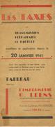 VERVIERS Les Taxes De Transmission Forfaitaire De Facture 1941 - Autres Collections