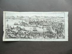 Tavola Geografica Città Marsiglia Porto Mare Governo Provenza Francia Metà 1700 - Altri
