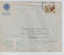 Ruanda-Urundi TP 194 S/L.Avion C.Usumbura 14/5/1959 V.USA 669 - 1948-61: Covers