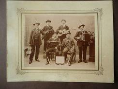 Grande Fotografia Antica Varallo Sesia Pizzetta Musicanti Leva 1891 Piemonte - Fotografia