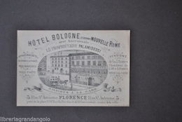 Pubblicità Turismo Alberghi Firenze Hotel Bologne Biglietti Da Visita 1800 - Publicités