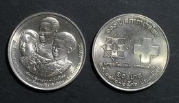 Thailand Coin 10 Baht 1993 100th Thai Red Cross Y280 UNC - Thailand