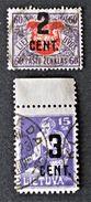 SURCHARGES NOIRES 1922 - OBLITERES - YT 137 + 140 - Lithuania