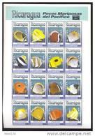 NICARAGUA   1962  OP- TAIPEI 93  MINT NEVER HINGED MINI SHEET OF FISH-MARINE LIFE  ; BUTTERFLY FISH - Marine Life