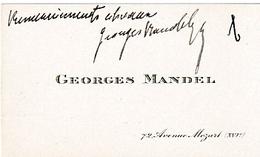 Georges MANDEL (1885-1944) - Chef De Cabinet De Georges CLEMENCEAU, Assassiné Par La Milice Française - Documents Historiques