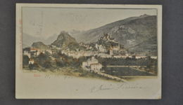 Cartolina Svizzera Sion Chiasso Montagna 1901 - Postales