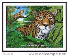 TANZANIA   1985 MINT NEVER HINGED SOUVENIR SHEET OF ANIMALS - Stamps