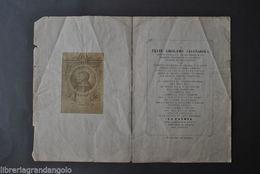 Savonarola Elogio Ferrara Prediche Rogo Martirio Corruzione Chiesa  1865 - Libri, Riviste, Fumetti
