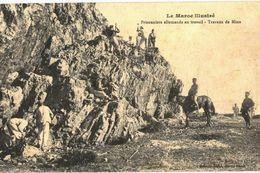 CPA N°4127 - MAROC - PRISONNIERS ALLEMANDS AU TRAVAIL - TRAVAUX DE MINE - MILITARIA - Autres